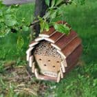 Insect & Bee Hotel - Wooden Hanging Box Home Hive